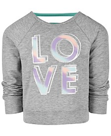 Ideology Toddler Girls Love-Print Sweatshirt, Created for Macy's