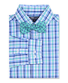Tommy Hilfiger Big Boys Resort Stretch Plaid Shirt & Dot Bow Tie