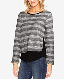 Vince Camuto Striped Layered-Look Top