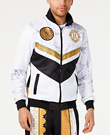 Reason Men's Marble & Gold Track Jacket
