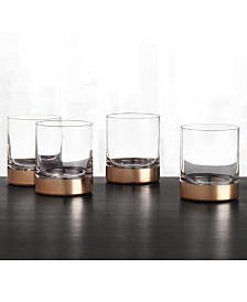 Hotel Collection Century Metallic Double Old-Fashioned Glasses, Set of 4, Created for Macy's
