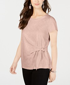 Style & Co Petite Side-Tie Top, Created for Macy's
