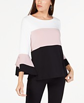 692d6b31a8f307 Alfani Colorblocked Square-Sleeve Top