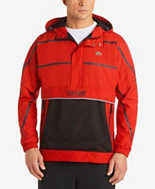 Lacoste Men's Stripe Windbreaker Jacket