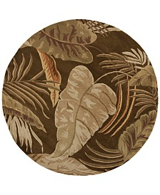 "KAS Havana Rainforest 7'6"" Round Area Rug"