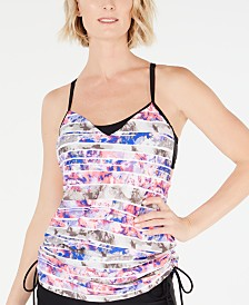 GO by Gossip Wash Away Waves Convertible Tankini Top
