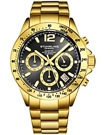 Original Men's Chrono, Black Dial, Gold Case, Gold Bracelet Watch