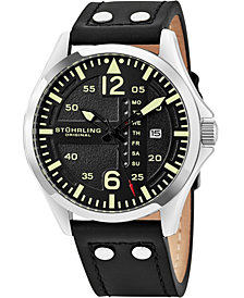 Stuhrling Original Men's Japan Quartz Luminous Pilot Watch