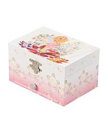 Mele & Co. Ashley Girl's Musical Ballerina Fairy and Flowers Jewelry Box