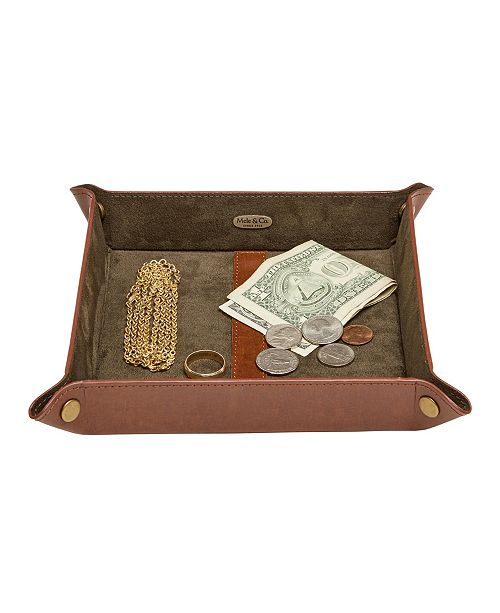 Mele & Co Travis Men's Dresser Top Valet Tray