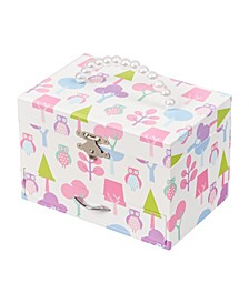 Molly Girl's Musical Ballerina Jewelry Box with Owl Pattern
