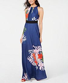 foxiedox Floral-Print Halter Maxi Dress