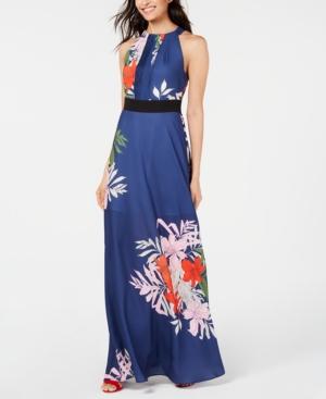 Foxiedox Dresses FOXIEDOX FLORAL-PRINT HALTER MAXI DRESS