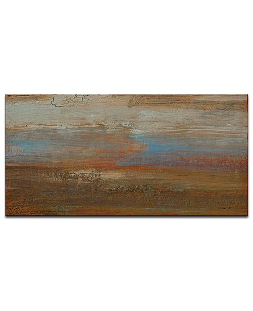 "Ready2HangArt 'Ravine Farm Sunrise' Abstract Canvas Wall Art - 18"" x 36"""