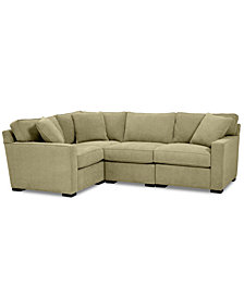 Radley Fabric 4-Pc. Sectional Sofa with Corner Piece - Custom Colors, Created for Macy's