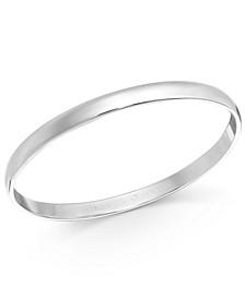 Silver-Tone Polished Bangle Bracelet