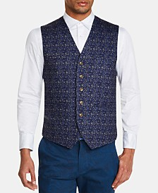 Tallia Men's Slim-Fit Stretch Floral Vest