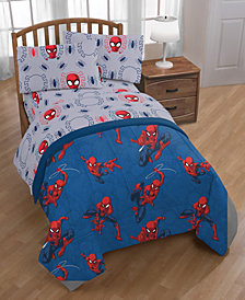 Marvel Spiderman Spidey Crawl Full 5-Pc. Bed in a Bag