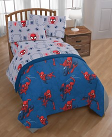 Mavel Spiderman Spidey Crawl Full 5-Pc. Bed in a Bag