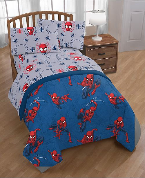 Spiderman Spidey Crawl Full 5 Pc Bed In A Bag