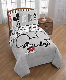 Mickey Mouse Jersey Classic Twin/Full Comoforter and Sham Set