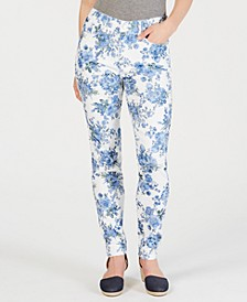 Petite Floral-Print Jeans, Created for Macy's