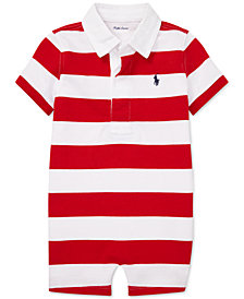 Polo Ralph Lauren Baby Boys Striped Cotton Rugby Shortall