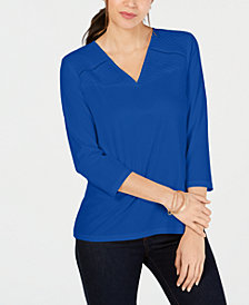 Charter Club Pintucked Top, Created for Macy's
