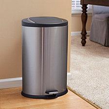 Household Essentials Stainless Steel 40L Hawthorn Oval Step Trash Bin
