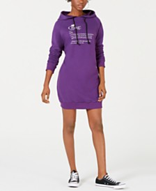 TENZ CVLT Qing Open-Back Hoodie Dress