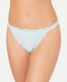 b.tempt'd Women's Insta Ready Lace Trim Thong 976229
