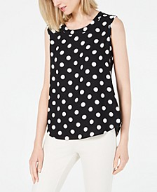 Polka-Dot Sleeveless Top