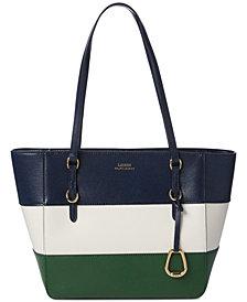 Lauren Ralph Lauren Bennington Saffiano Leather Shopper