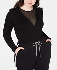 La La Anthony Trendy Plus Size Drill Sergeant Bodysuit