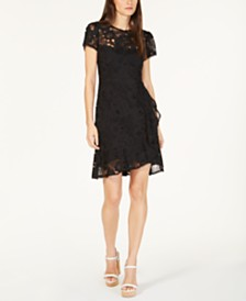 Nanette Lepore Lace A-line Dress, Created for Macy's
