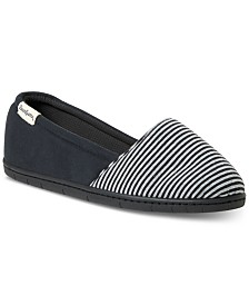 Dearfoams Women's Katie Mini Stripe Slipper, Online Only