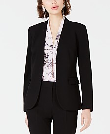 Bar III Collarless Open-Front Jacket, Created for Macy's