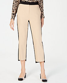 Marella Ileo Cropped Colorblocked Pants