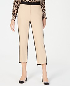 Marella Ileo Cropped Colorblocked Pants