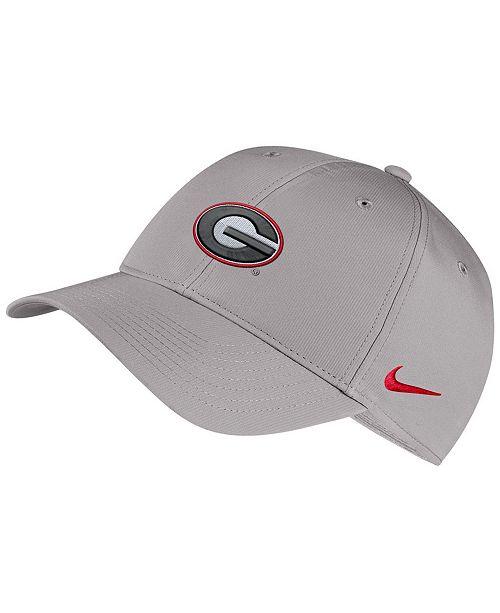 Nike Georgia Bulldogs Dri-Fit Adjustable Cap - Sports Fan Shop By ... c427978a759