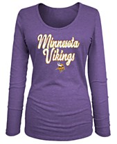 5th   Ocean Women s Minnesota Vikings Long Sleeve Triblend Foil ... 2ff60c5a14