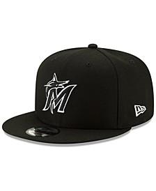Miami Marlins Black White 9FIFTY Snapback Cap