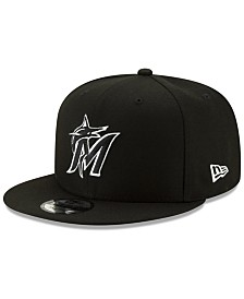 New Era Miami Marlins Black White 9FIFTY Snapback Cap