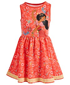 Disney Little Girls Floral-Print Elena Dress