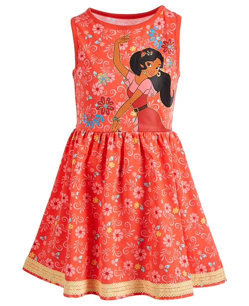 Disney Little Girls Floral-Print Elena Dress