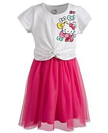Toddler Girls Graphic-Print Mesh Dress