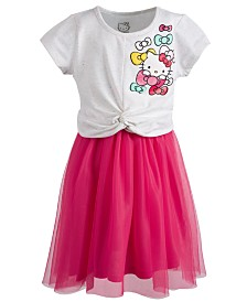 Hello Kitty Little Girls Twist-Front Dress