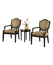 Transitional Set Of Table and Accent Charis, Set Of 3