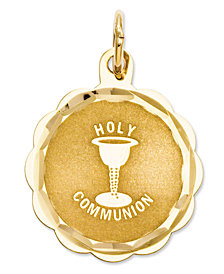 14k Gold Charm, Holy Communion Charm