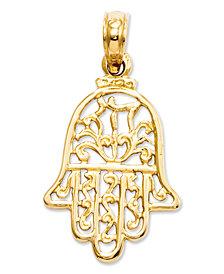 14k Gold Charm, Hamsa Charm